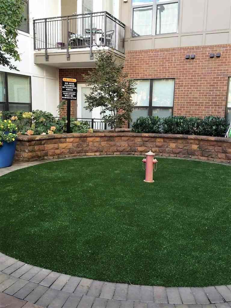 Pet Relief Area And K9 Dog Run On Synthetic Grass