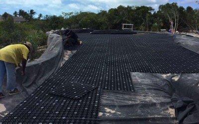 airdrain, bunker drainage, sand rap drainage, golf drainage