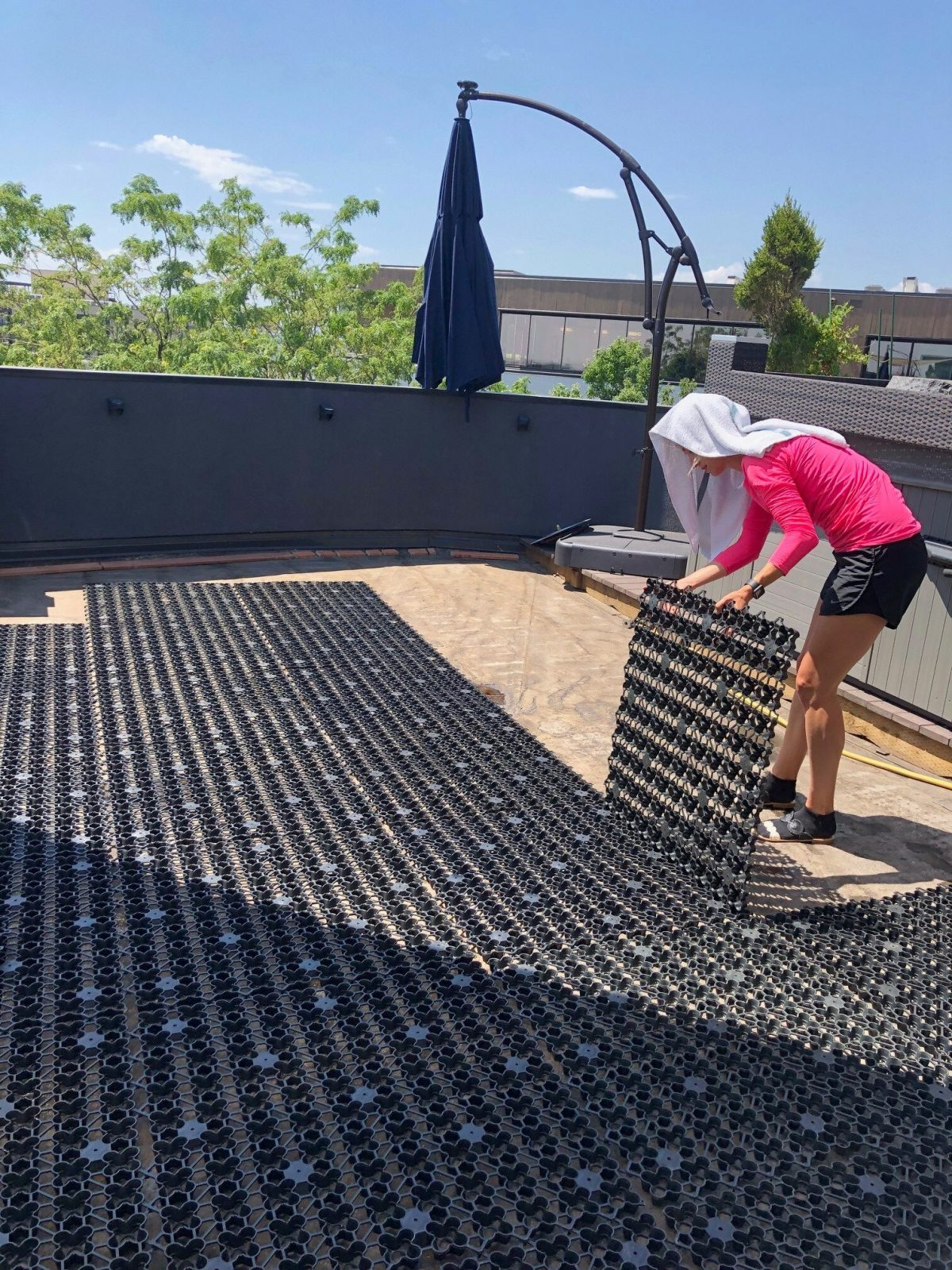AirDrain Drainage and Shock Pad Back Patio