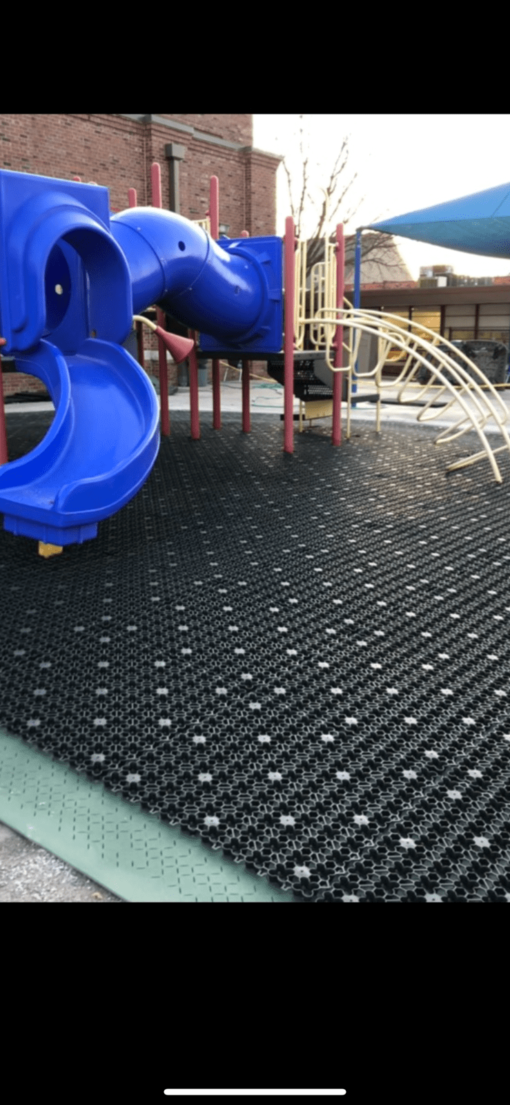 AirDrain Drainage Church Playground Installed over Pad