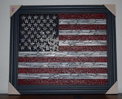 American Flag Mosaic Image