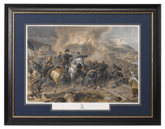 On the March to the Sea Print by Alexander Hay Ritchie, after F.O.C Darley, 1868 Image