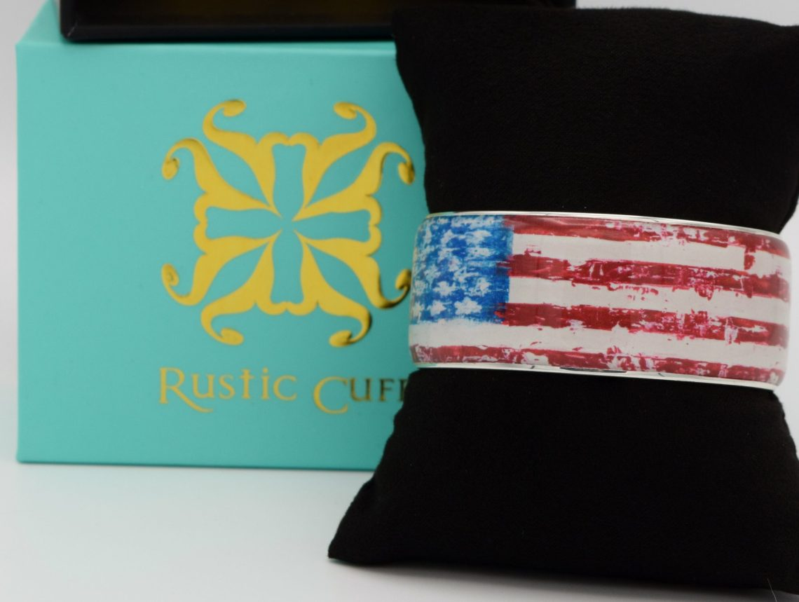Rustic Cuff Art Deco Limited Edition Flag-Art Bracelet Image