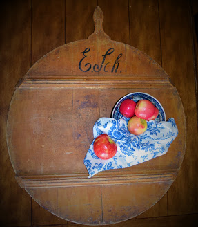 Antique German Bread Board with Owner