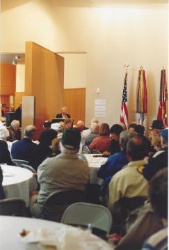 Retired woman general speaks to AFEES members