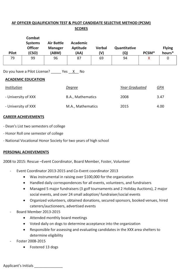 Natalie Johnson S Applicant Profile Civ Air Force Journey