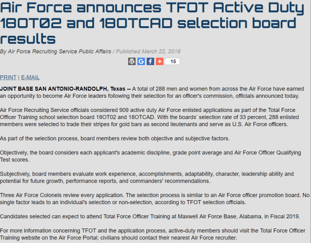 18OT02 Active Duty / 18OTCAD Board Results – Air Force Journey