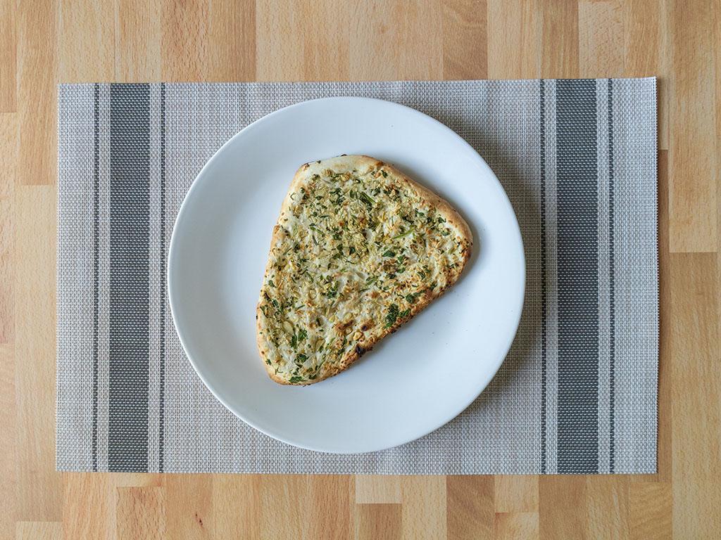 Air fried Trader Joes Garlic Naan Bread