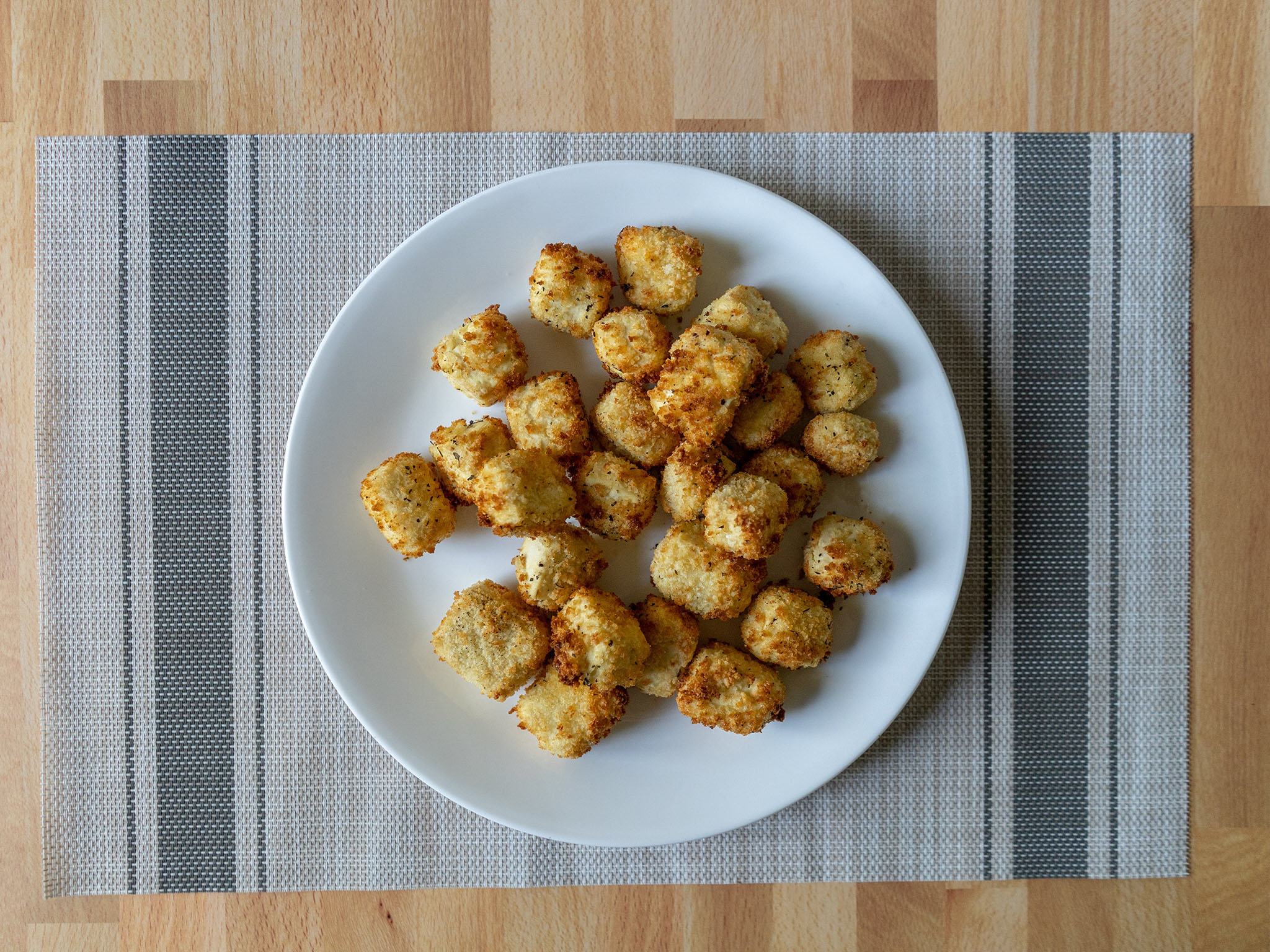 Air fried panko tofu