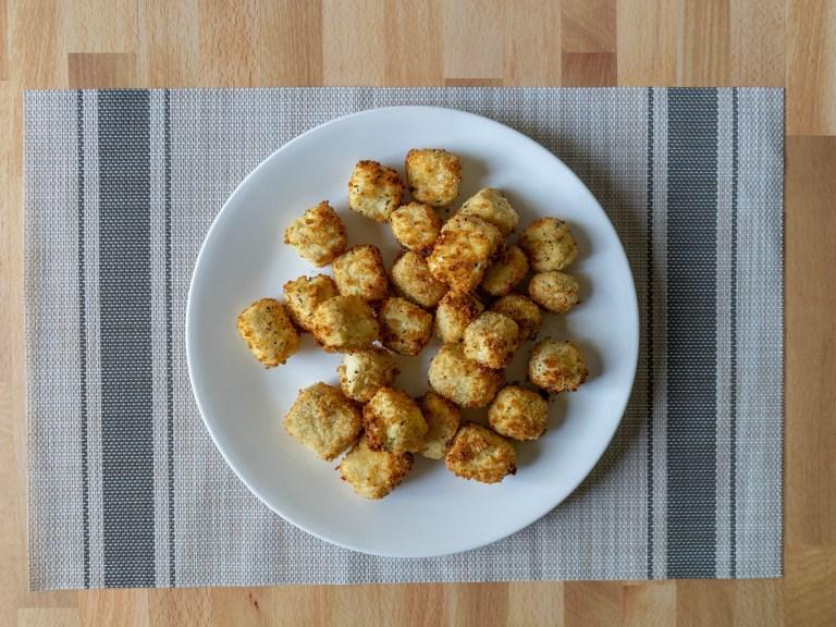 How to make crisp panko crusted tofu in an air fryer