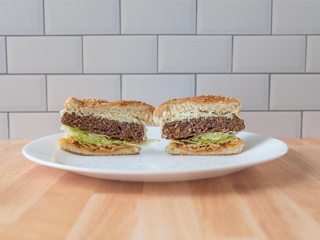 Beyond Burger 2020 reformulation air fried cross section