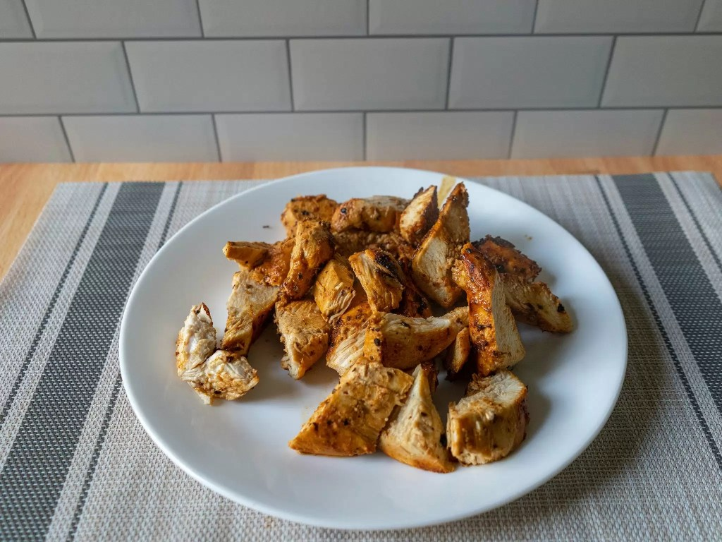 Mexican style grilled chicken out of the air fryer cooked two more minutes