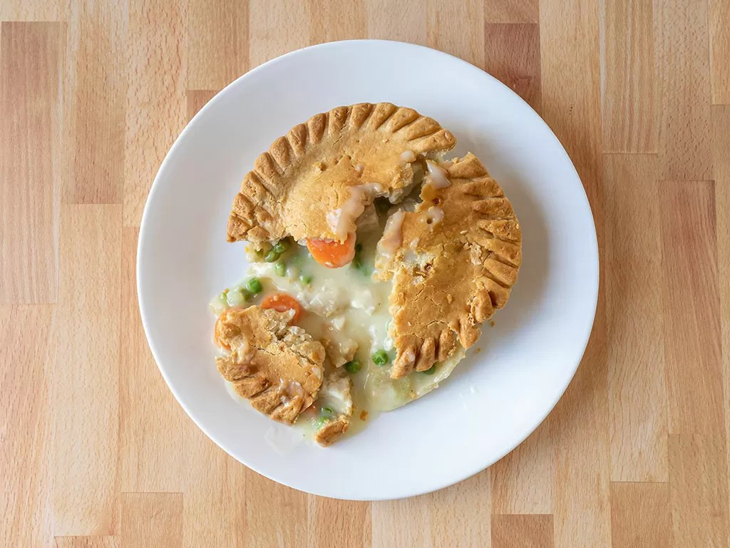 Air fried Marie Callender's Large Chicken Pot Pie - 15 ounces