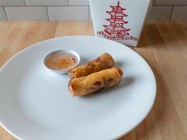 How to reheat restaurant spring rolls in an air fryer