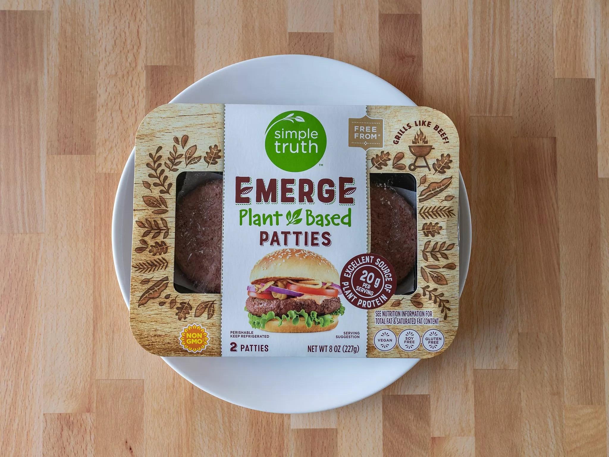 Simple Truth Emerge Plant Based burgers