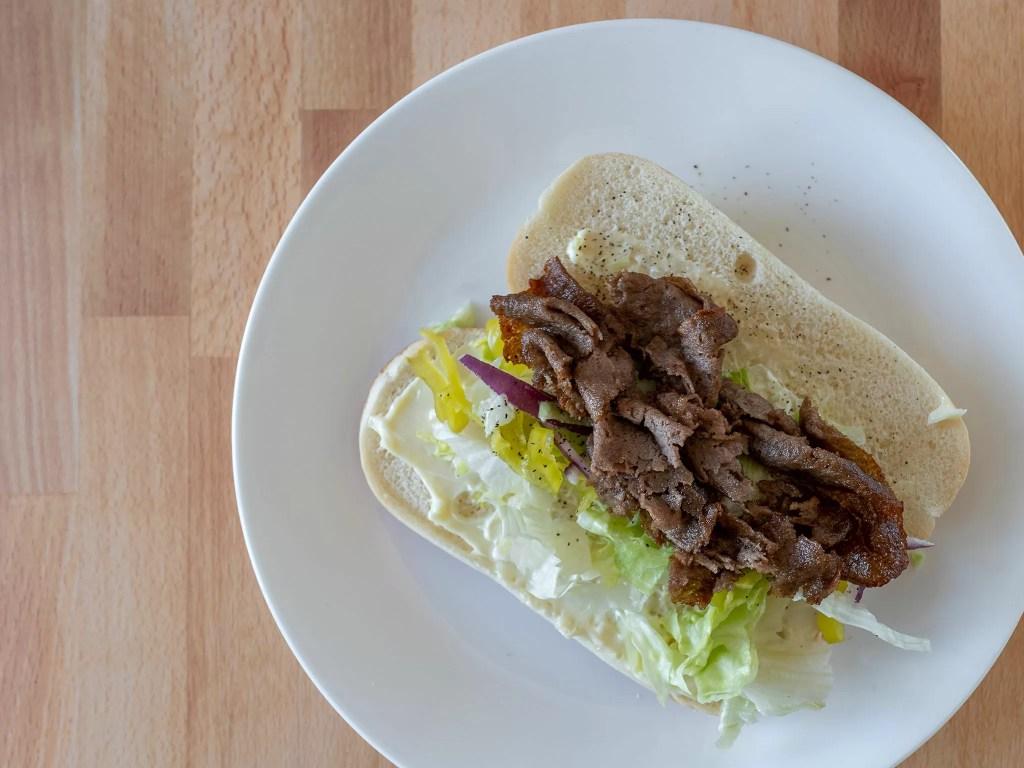 Air fried Steak-umm Sliced Steaks hoagie roll