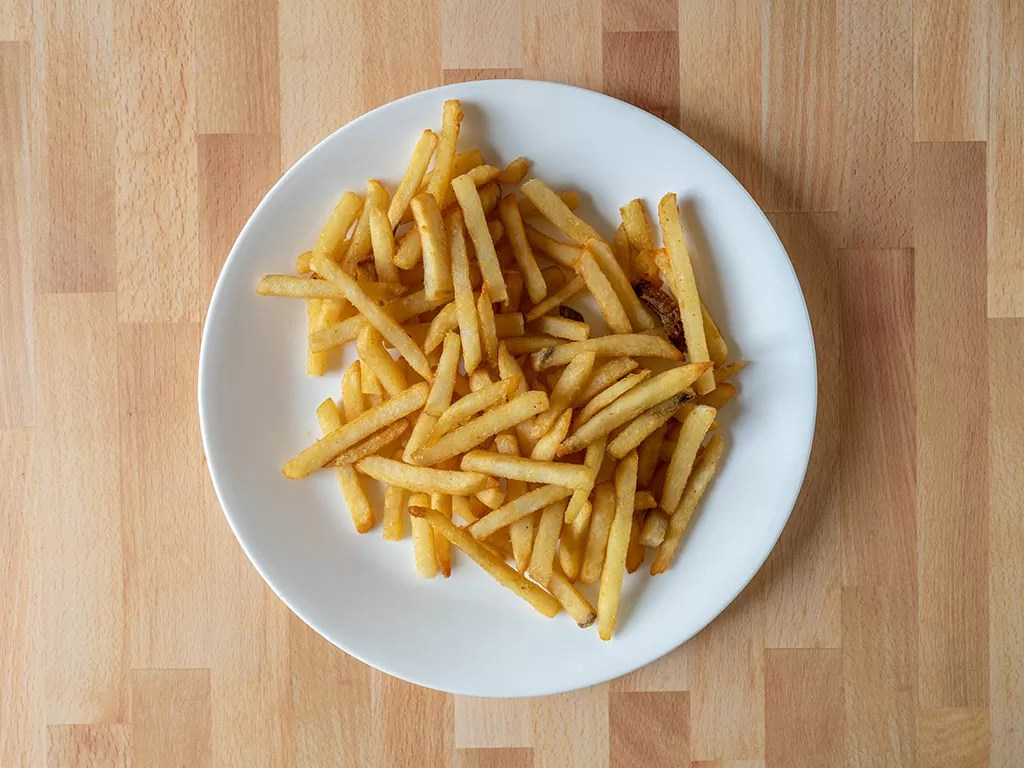 Ore-Ida Extra Crispy Fast Food Fries cooked in air fryer