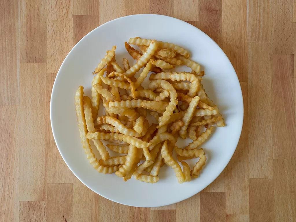 Del Taco crinkle cut fries