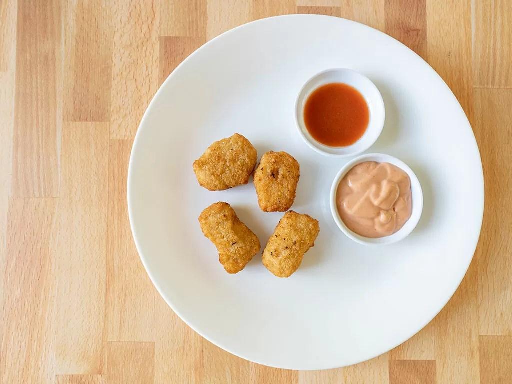 Air fried Alpha Plant-Based Original Chik'N Nuggets