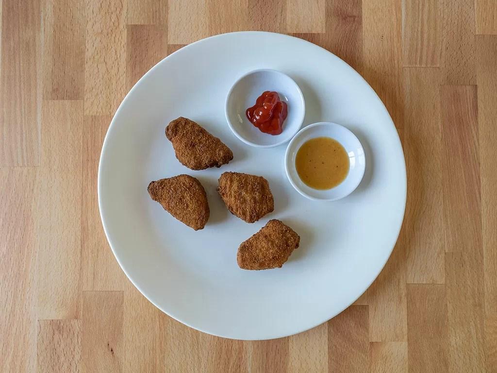 Air fried MorningStar Farms Incogmeato Chik'N Nuggets