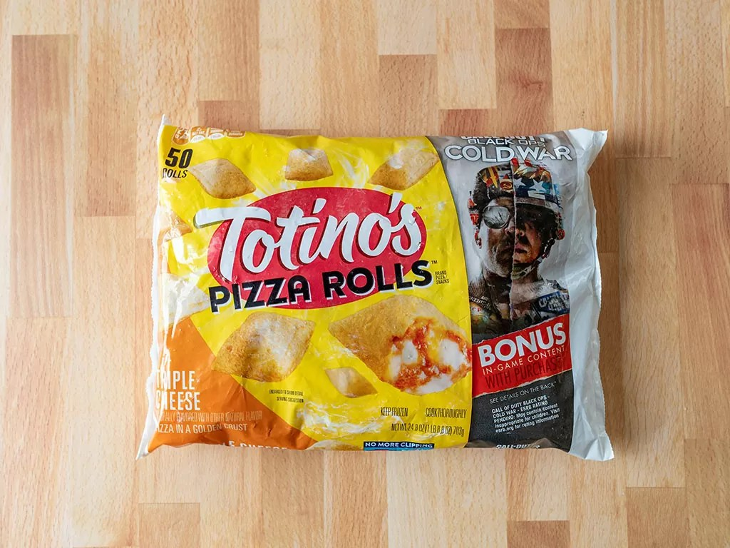 Totinos Triple Cheese Pizza Rolls