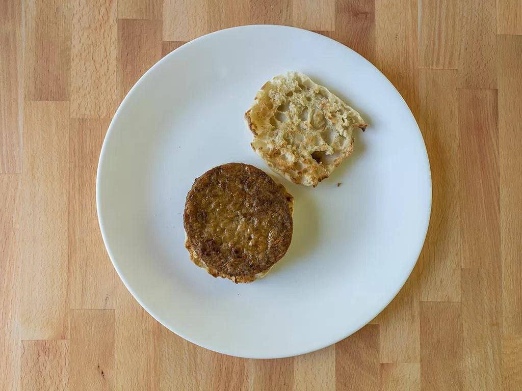 Air fried Simple Truth Meatless Breakfast Patties