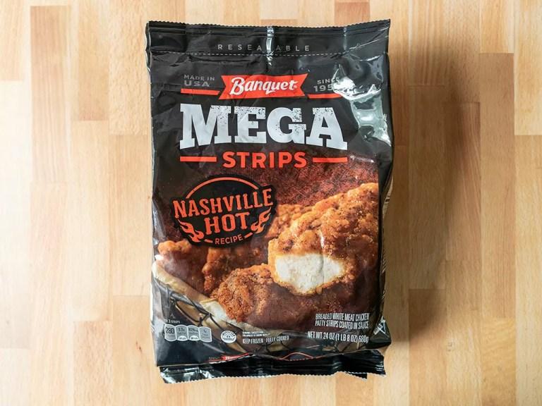 How to air fry Banquet Nashville Hot Mega Strips