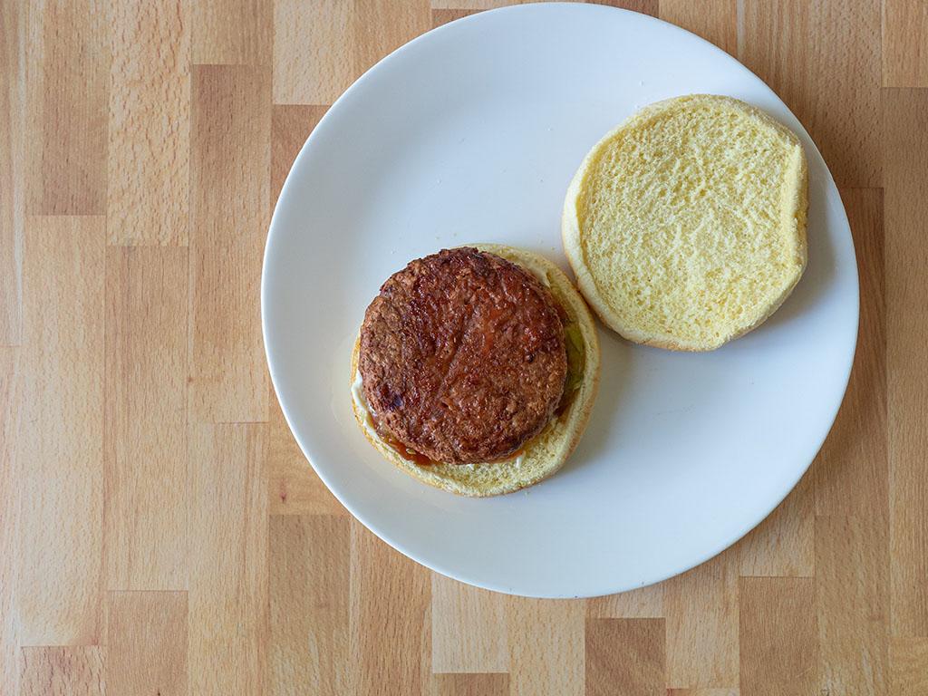 Air fried Dr Praeger's Perfect Burger