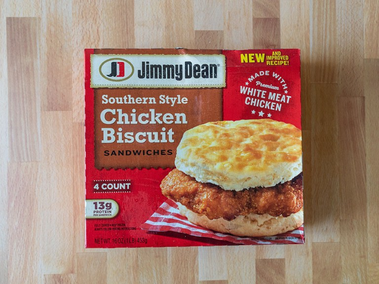 How to air fry Jimmy Dean Southern Style Chicken Biscuit Sandwiches