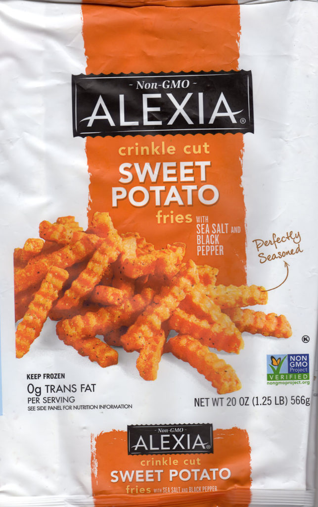 Alexia Crinkle Cut Sweet Potato Fries package front