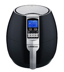 GoWISE USA GW22611 GoWISE USA 8-in-1 Electric Air Fryer with Digital Programmable Cooking Settings 3.7 QT Black, Blac