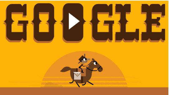 55TH ANNIVERSARY OF THE PONY EXPRESS DOODLE