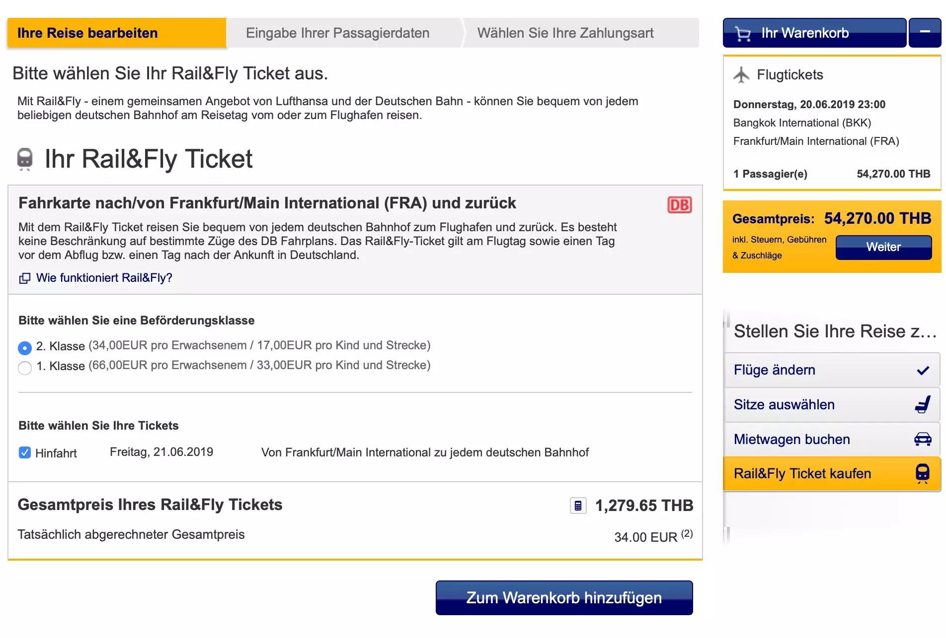Lufthansa Rail & Fly - Buchen. Preise. Infos » airguru.de