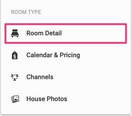 Click room details from menu.