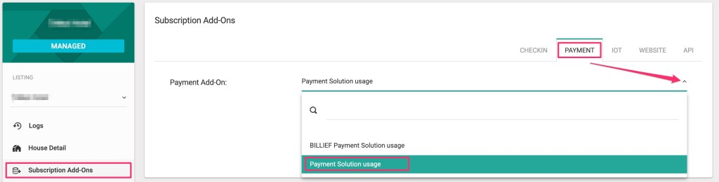 Add payment solution usage.