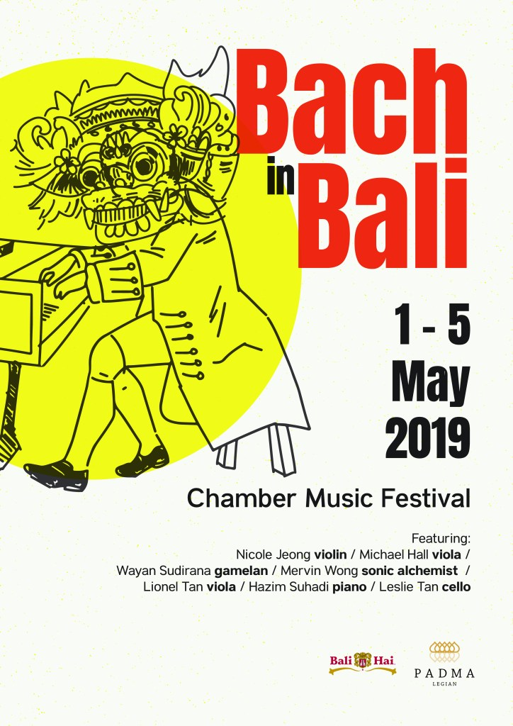 Bach in Bali Chamber Music Festival Poster May 2019