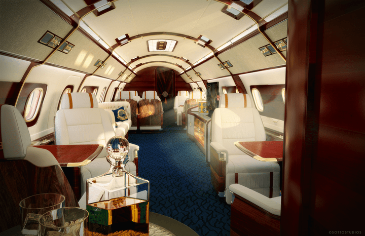 Amazing new cabin concepts for the Embraer Lineage 1000E