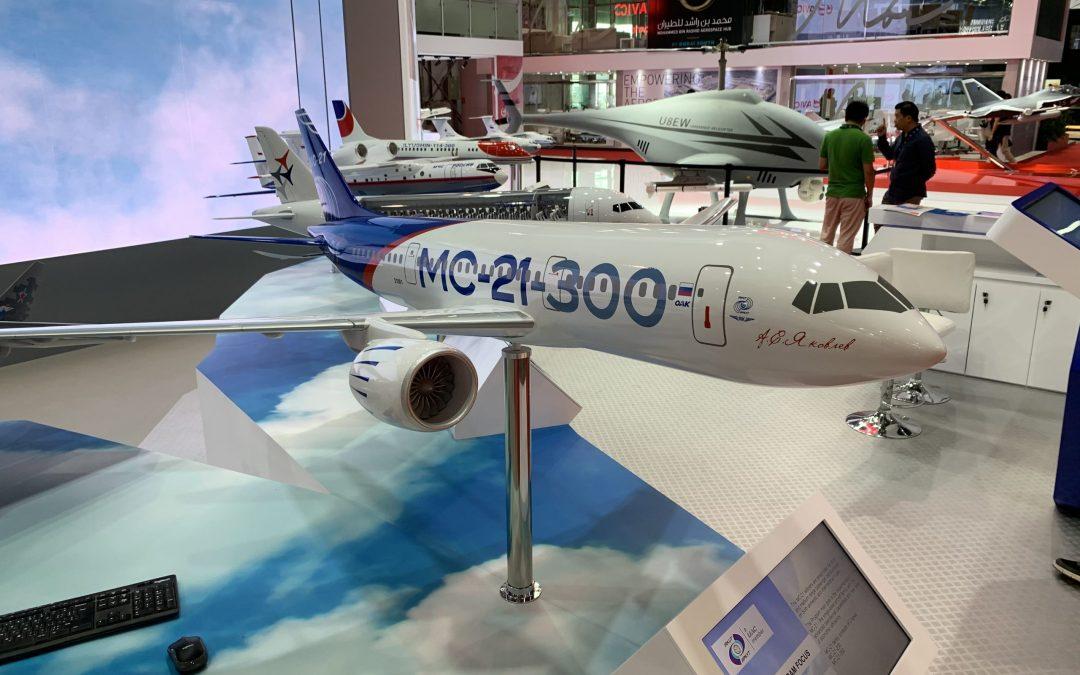 UAC pitches MC-21 and CR929 at Dubai Air Show