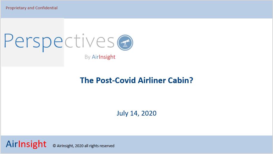 The Post-Covid Airline Cabin