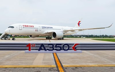 First Airbus A350 delivered from Tianjin