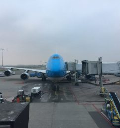 a klm boeing 747 400m at the gate in amsterdam photo airlinegeeks tom pallini  [ 1024 x 768 Pixel ]