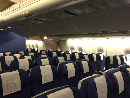 small resolution of  regular economy on the boeing 747 400m takes up just over 20 rows photo airlinegeeks tom pallini