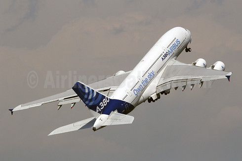 "Airbus A380-841 F-WWDD (msn 004) ""Own the sky"" LBG (Marcelo F. De Biasi). Image: 912600."
