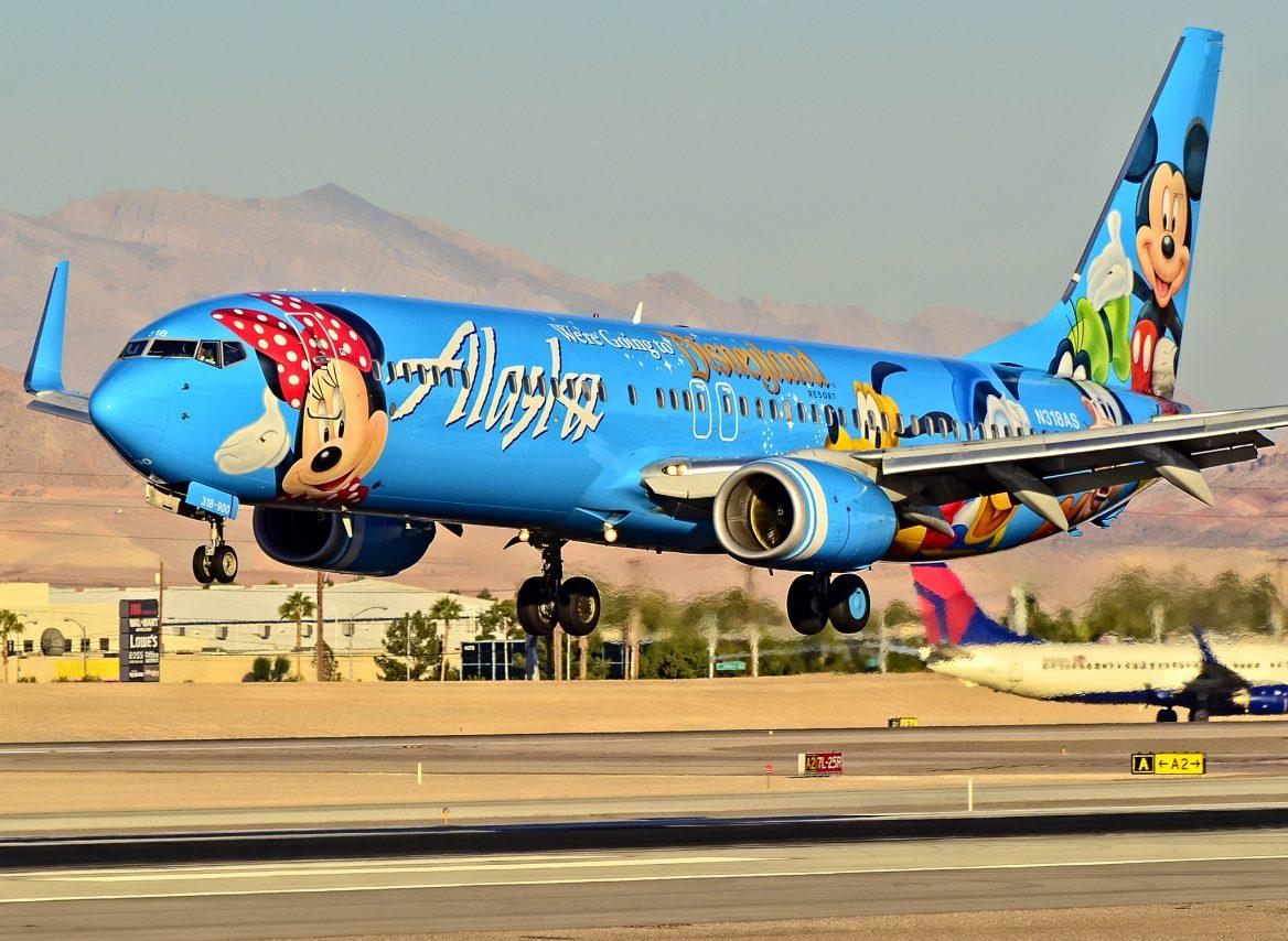 Alaska Airlines Disney Jet Spirit Of Disneyland II Boeing 737 900