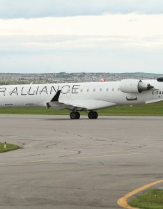 Air canada express jazz on star alliance livery bombardier crj  fujz at calgary international airport also seating chart airlinesfleet rh