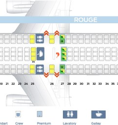 first cabin confuguration seat map and seating chart boeing 767 300er air canada rouge [ 1752 x 500 Pixel ]