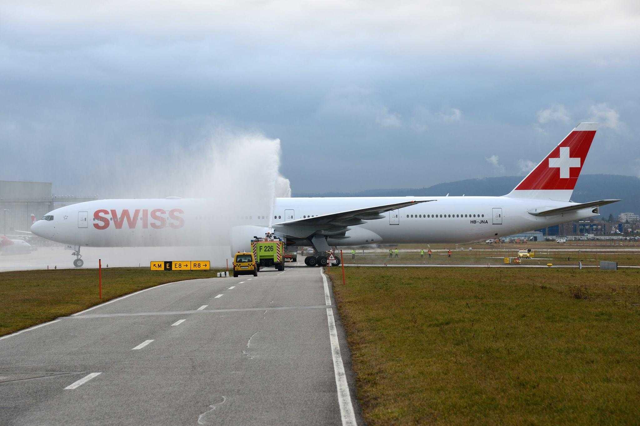 VIDEO: Primul Boeing 777-300ER SWISS livrat la Zurich