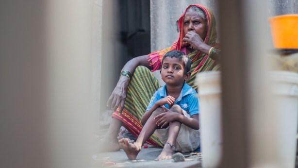 India Grandma and Child