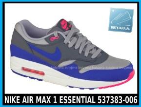 NIKE AIR MAX 1 ESSENTIAL 537383-006 w kolorze ( szare, ultramaryna, niebieskie )- cena 379,99 zł z wysyłką gratis - sklep
