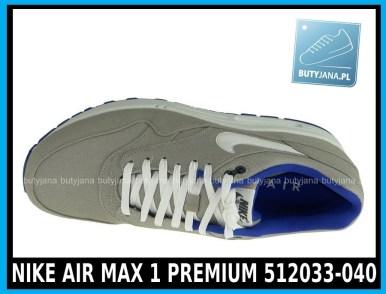 NIKE AIR MAX 1 PREMIUM 512033-040 w kolorze CLASSIC STONE SL – HYPR BLUE – ANTHRACIT - cena 399,99 zł - buty męskie 3